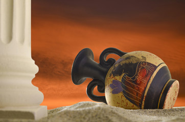 Amphora, sunset.