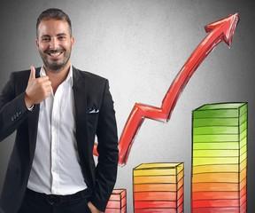 Businessman profits