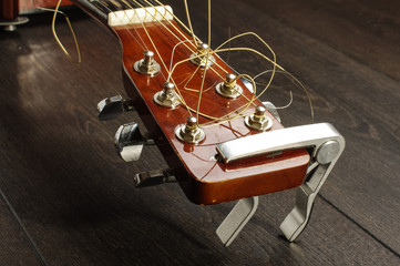 Abstract guitar detail isolated