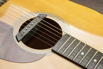 Guitar sound hole with rosette isolated