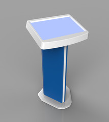 Interactive kiosk with touchscreen mock-up