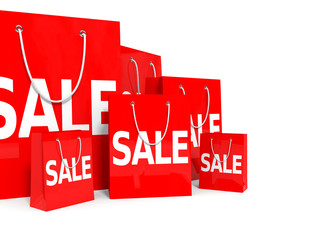 Shopping bags. Sale.