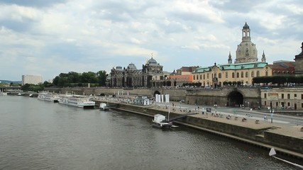 Dresden. View on the city from the Augustus Bridge