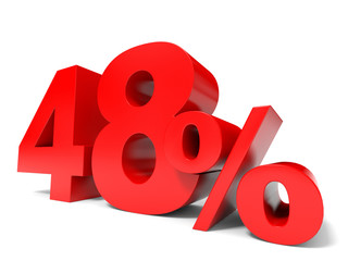 Red forty eight percent off. Discount 48%.