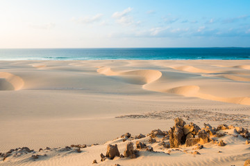 Sand dunes  in Chaves beach Praia de Chaves in Boavista Cape Ve