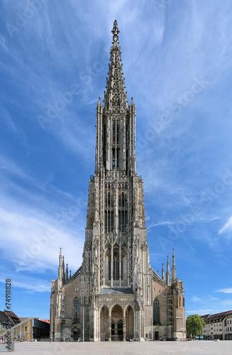 Leinwanddruck Bild Ulm Minster, Germany