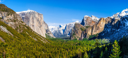 Yosemite National Park wide view