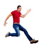 Happy running man