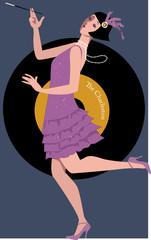 Flapper dancing the Charleston