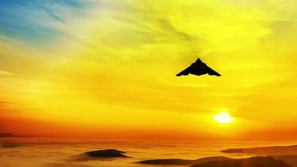 Stealth F-117 Nighthawk air attack