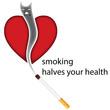 Постер, плакат: Fumo e salute slogan