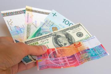 International money in hand