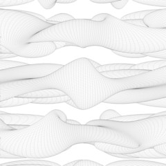 Abstract Curved Wire Lines Background