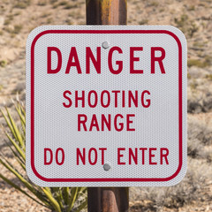 Danger Shooting Range Sign
