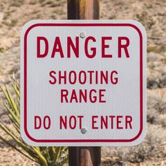 Danger Shooting Range Sign