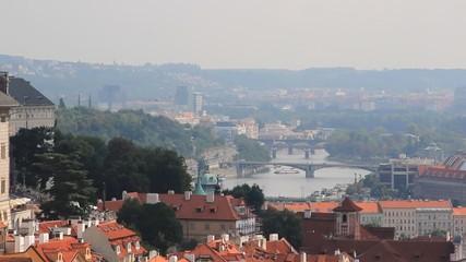 Prague, bridges on a the Vltava river, Czech Republic