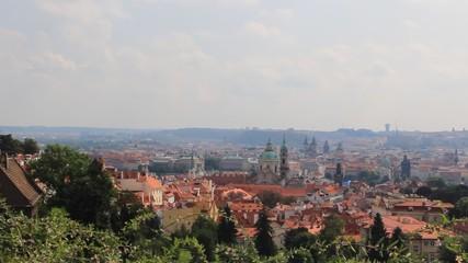 Panoramic view on Prague, Czech Republic.