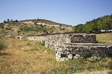 Historical foundation in Old Orhei. Moldova
