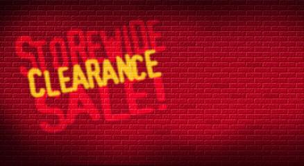 Storewide Clearance Sale Brick