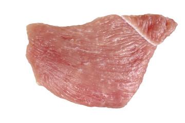 Schnitzel, Fleisch roh