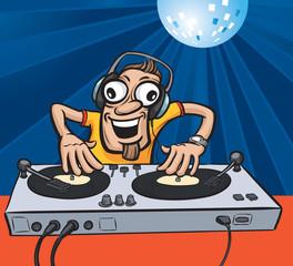 Cartoon party DJ