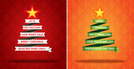 Sales Marketing Banner and Christmas Greeting Card