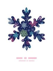 Vector snowflakes on night sky Christmas snowflake silhouette