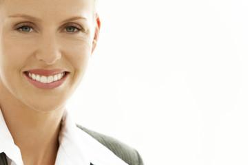 Happy executive woman