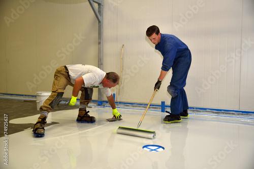 Leinwanddruck Bild epoxy surface for floor