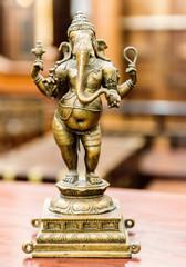Old bronze statuette of hindu God Ganesha