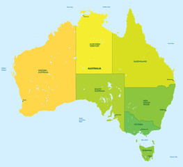 Color map of Australia