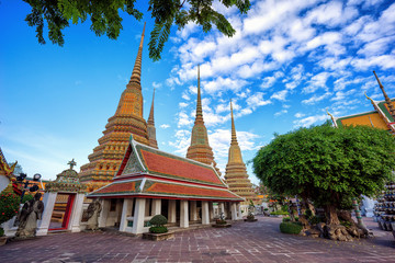 Wat Pho the thai temple in Bangkok, Thailand