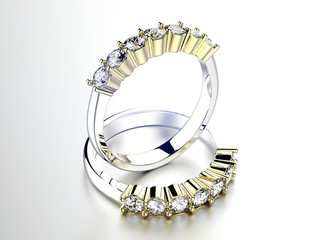 Golden  Ring with Diamond. Jewelry background