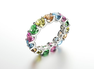 Ring with different color diamond. Fashion Jewelry background
