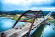 Leinwanddruck Bild - Pennybacker Bridge, Austin, Texas