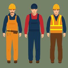 builder, engineer man, vector illustration, construction worker