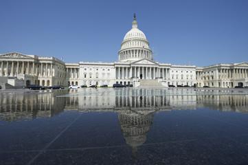 Capitol Building Washington DC USA with Reflection