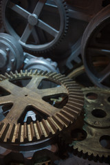 Machine Cogs in Large Motor Close-Up