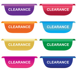 Clearance, sign, tag, label, badge, horizontal