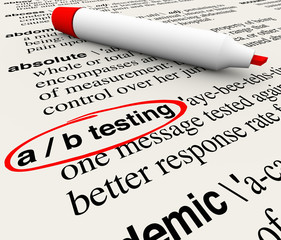A/B Testing Words Dictionary Definition Experiment Message Perfo