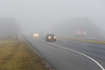 Traffic in Heavy Fog