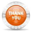 thank you orange icon, christmas button