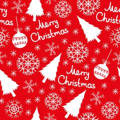 Christmas seamless pattern elements