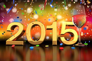 champagne glass - 2015 - confetti and streamer - shot 1