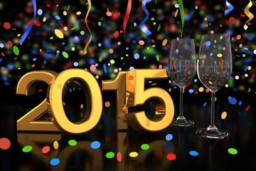 champagne glasses - 2015 - confetti and streamer - shot 2