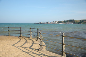Harbour beyond pier at Swanage in Dorset