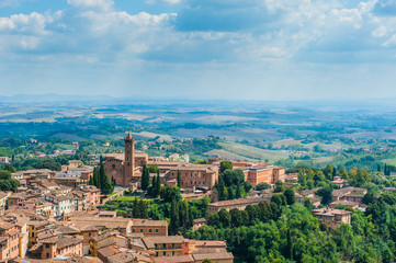 Siena. Image of ancient Italy city, view from the top
