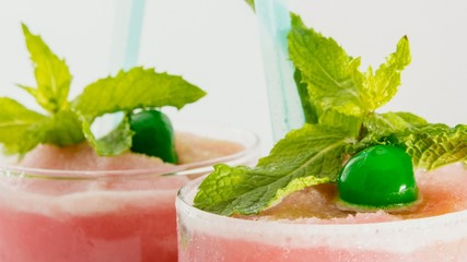 Strawberry daiquiry or smoothie, alcoholic drink