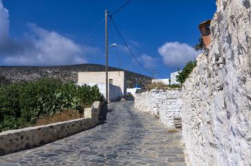 Street in Iraklia island, Cyclades, Greece