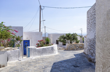 Street in Iraklia island, Cyclades, Greece